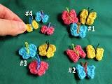 Free crochet pattern - Itty Bitty Butterflies appliques