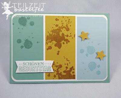 Stampin' Up! - In{k}spire_me #225, Birthday, Geburtstag, Gorgeous Grunge, Star, Sterne, Zum großen Tag, Male Card, Karte Mann, Banner