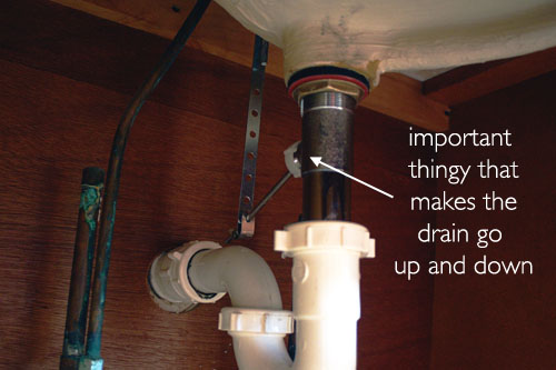 The Redheaded Stepchild DIY Bathroom Sink Drain Replacement