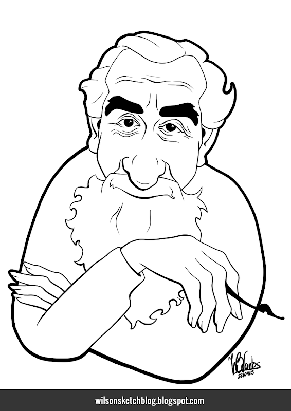 Caricature of Al Hirschfeld.