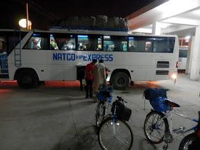 Stood waiting at NATCO bus station