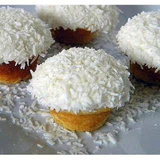 Vanilla Coconut Snowball Cupcakes.