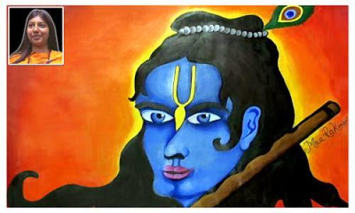 Lord Shri Krishna Painting By Guru Maa Rokmani Ji
