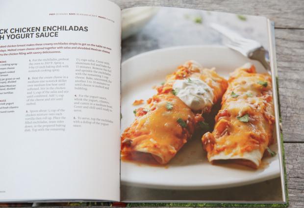 photo of the enchiladas recipe in the cookbook