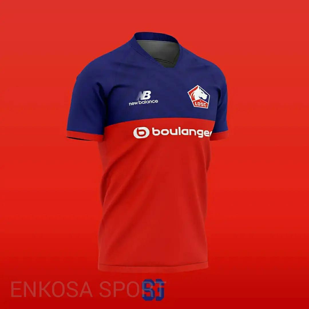gambar ringan jersey home artikel Bocoran Jersey Lille Losc Musim 2020/2021 New Balance Konsep