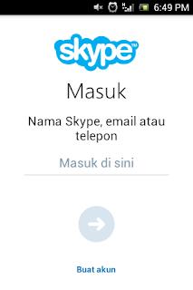 Cara  membuat  aku nak skype  via  Android