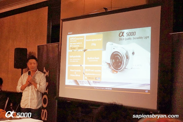 Product presentation by Mr. Ishida Masahiko, Head of Digital Imaging Sony Malaysia