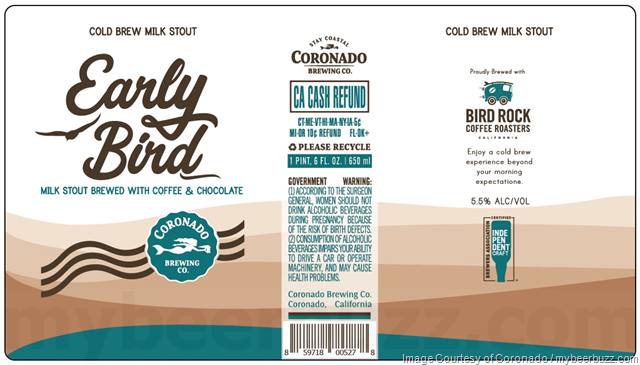 Coronado Early Bird Cold Brew Milk Stout Returns For 2018