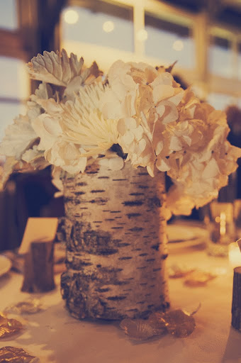 white bark centerpieces