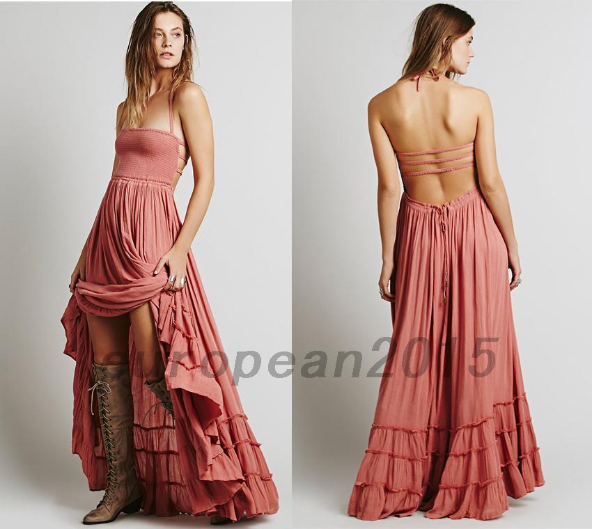 Sommer Damen Bodenlang Hochzeit Abendkleider Maxikleid ...