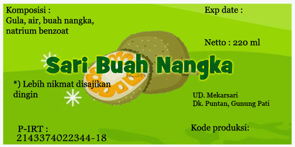 Label Sari Buah Nangka