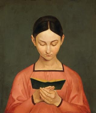 Gustav Adolf Hennig - Lesendes Mädchen