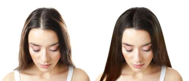 العلاجات المنزلية تحقق الشعر الكثيف