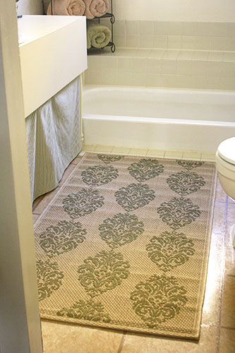 The Redheaded Stepchild: The new and improved bathroom floor (finally)