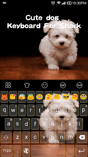 Cute Dog Emoji Keyboard Theme