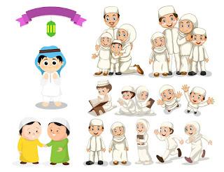 Download Kumpulan Vektor Kartun Islami Cdr