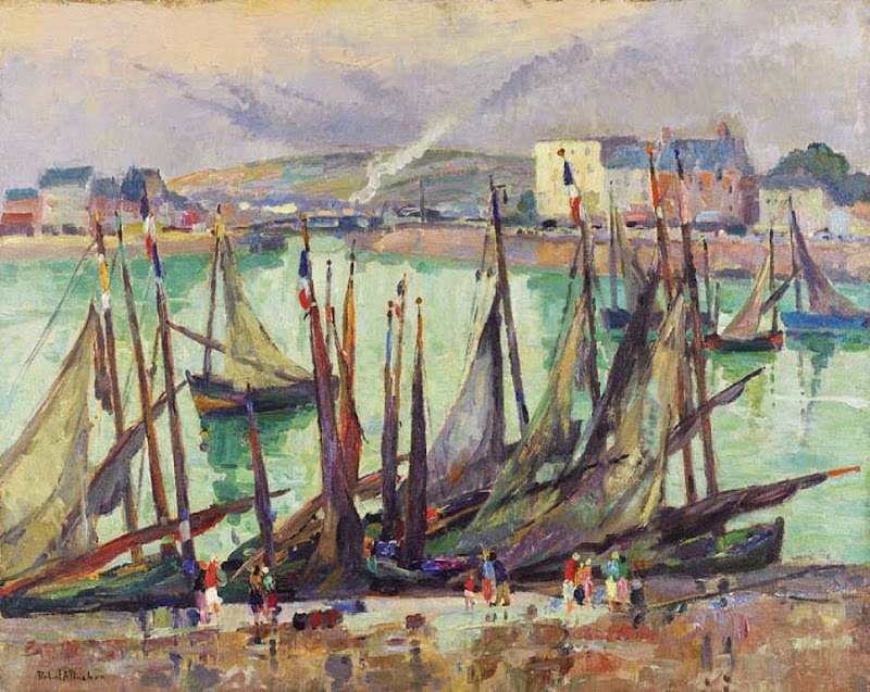 Robert Antoine Pinchon - Vue du Tréport
