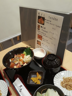 Tenka's menu plus sample dish.