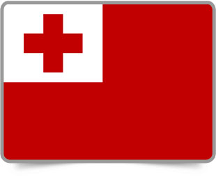 Tongan framed flag icons with box shadow