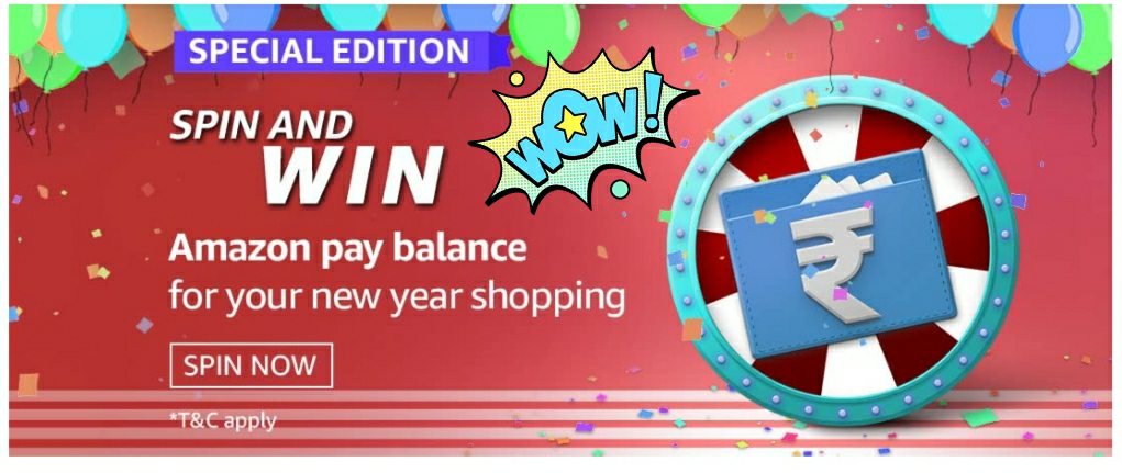 Amazon Special Edition Spin And Win-Pay Balance 1