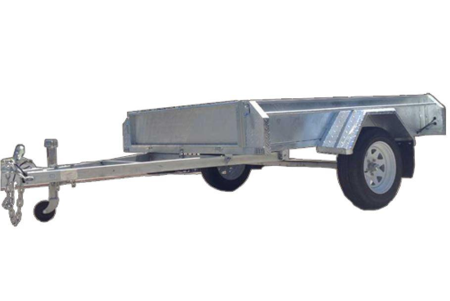 8 x 5 Tipper Box Trailer Galvanized with welded sides