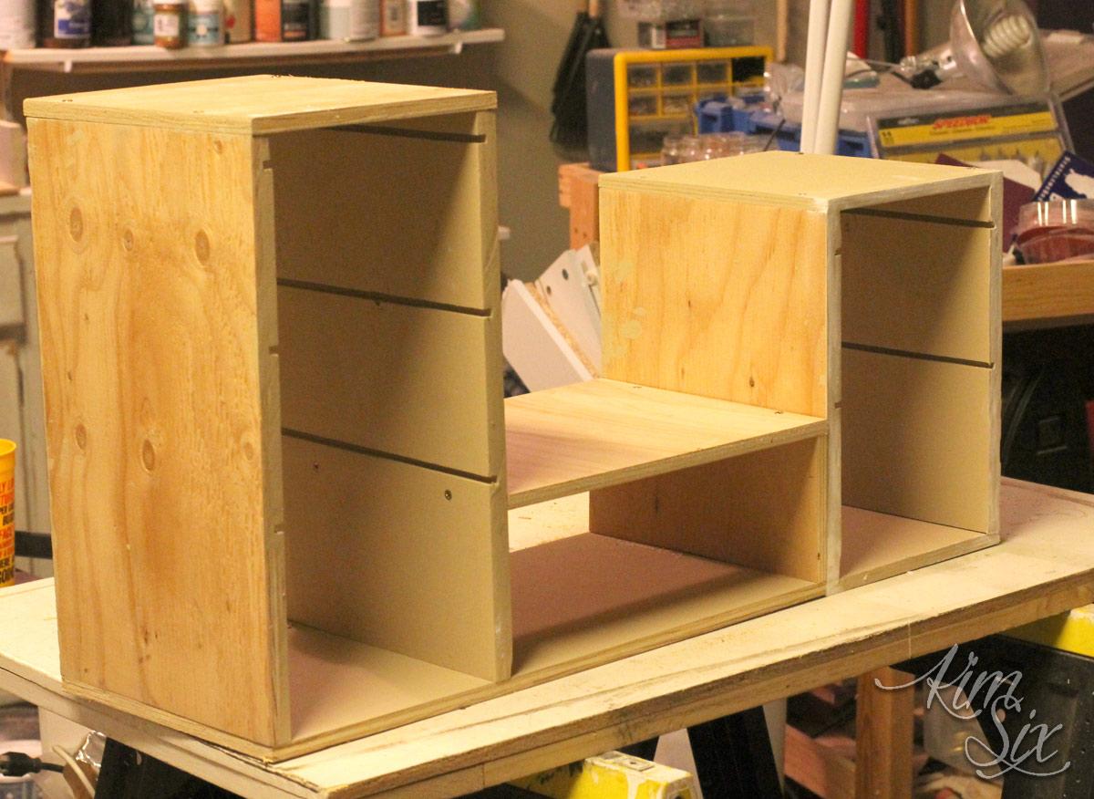 Plywood cabinet organizer