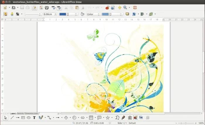 برنامج تحرير الرسومات المجاني Libreoffice