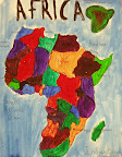Map of Africa by Jane