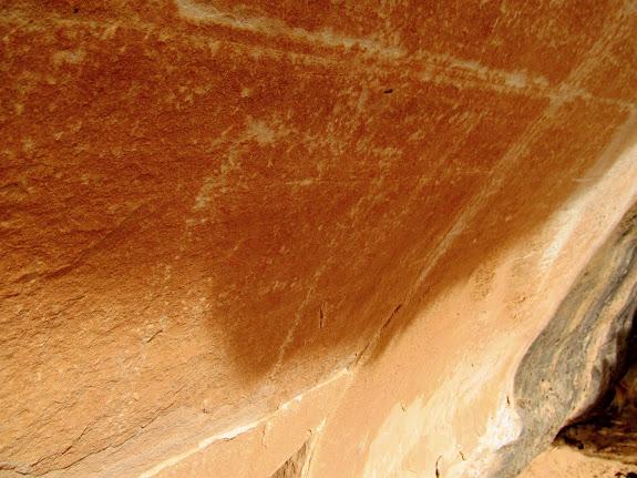 Faint petroglyph