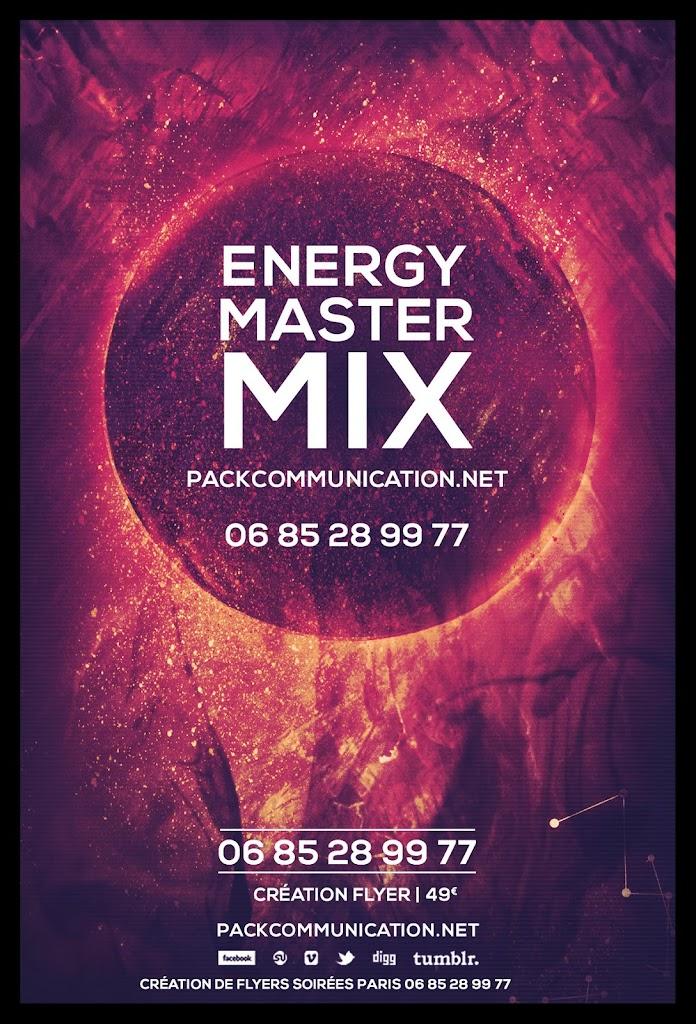 création flyers soirées thème Energy Master Mix