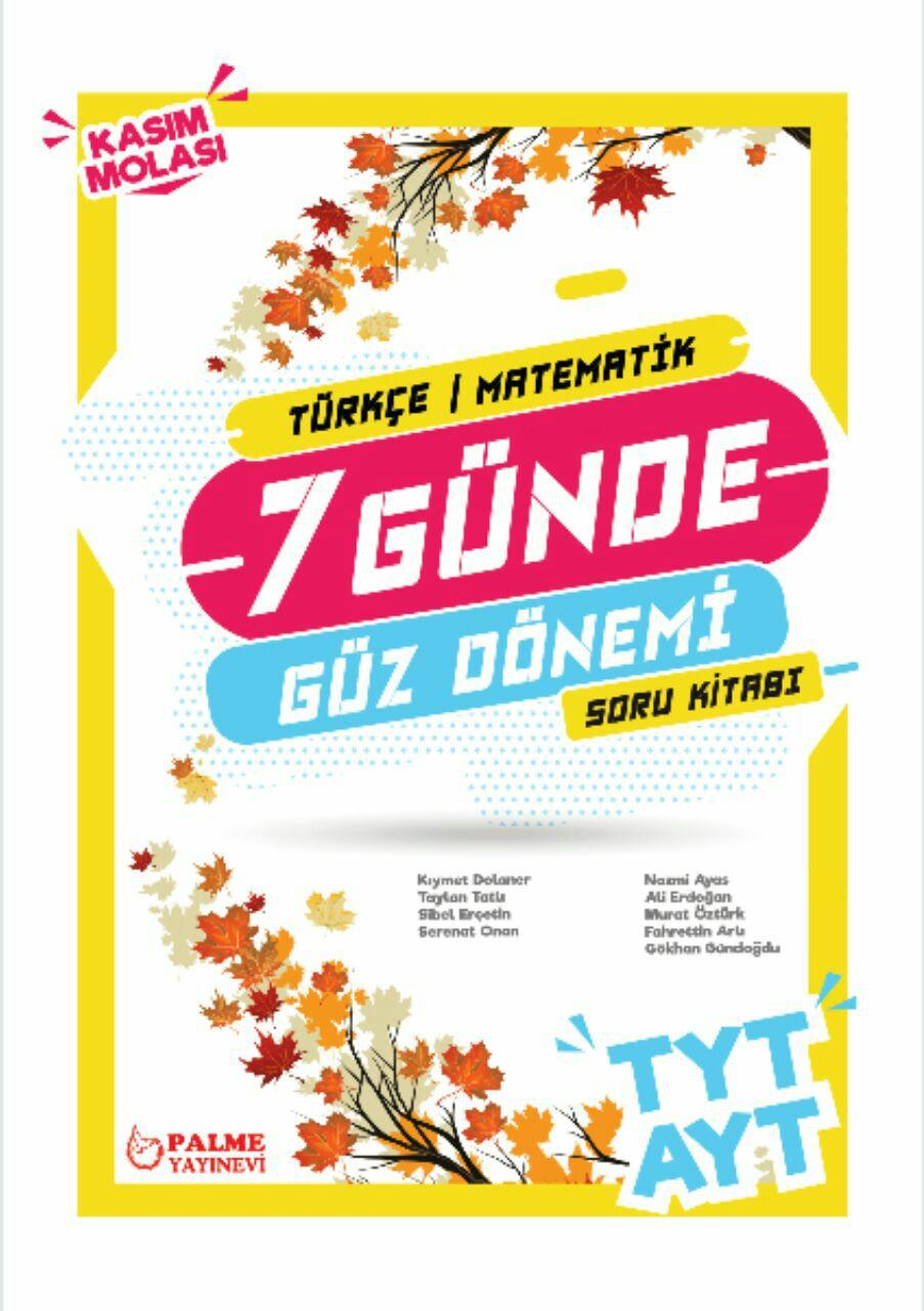 Palme Yayınları TYT-AYT Güz Dönemi Türkçe-Matematik Soru Bankası