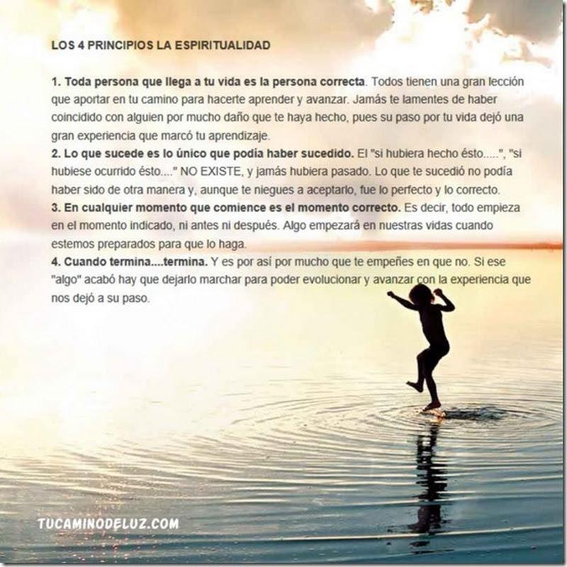 LOS 4 PRINCIPIOS LA ESPIRITUALIDAD