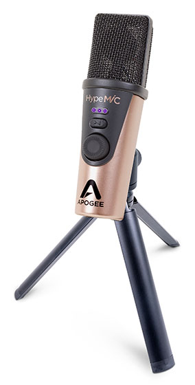 Apogee HypeMiC 3 Quarters Left New Tripod 560