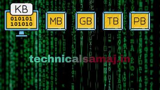 KB MB GB TB PB EB ZB YB क्या है? 1 GB कितने MB और KB का होता है? KB Ka full form , MB ka full form , GB ka full form , TB ka full form , PB ka full form, EB ka full form , ZB ka full form, YB ka full form in computer