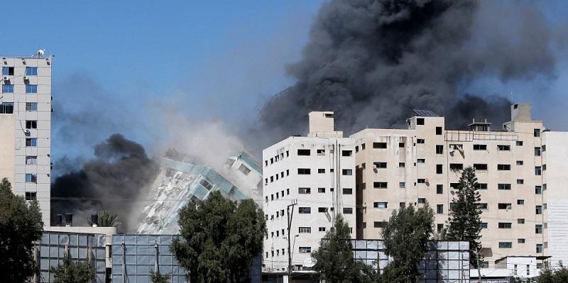 Jurnalis Palestina Beberkan Detik-detik Mengerikan Sebelum Israel Hancurkan Menara Al Jalaa