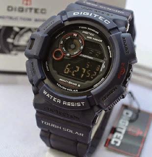 Jual jam tangan Digitec Mudman DG2028 green army rubber Original