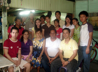 March 7: Rommel Isagani Rosas with brother, sister, mother and father