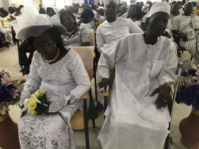 Shocker!! 96-year-old man marries 93-year-old lover after 50 years of romance (photos)
