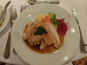Photo: Nice American turkey dish, almost like Thanksgiving meal.