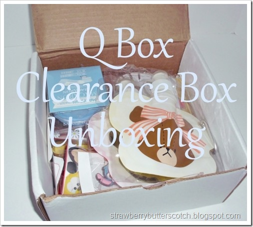 Q Box Clearance Box Unboxing