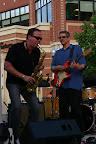 "Mark and stellar sax man Doug Jones recording ""Soul Proprietor"" at Blue Back Square, West Hartford, CT. July 2009"
