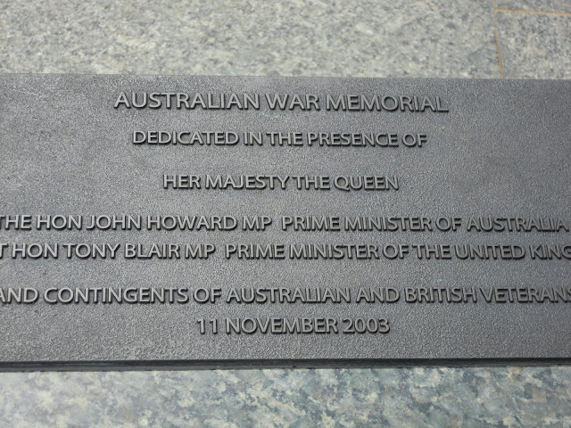 Australian War Memorial. From Important and Little-Known London Memorials and Statues