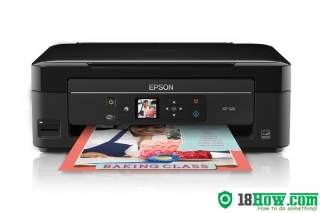 How to reset flashing lights for Epson XP-208 printer