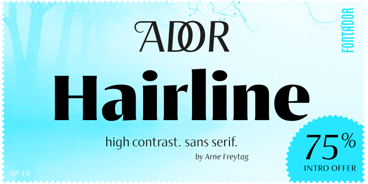 Download Ador Hairline Font Family From Fontador