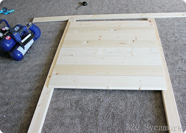how to make a shiplap headboard