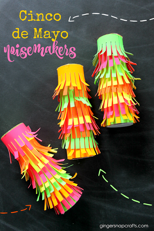 Cinco De Mayo Noisemakers at GingerSnapCrafts.com #cricut #cricutmade