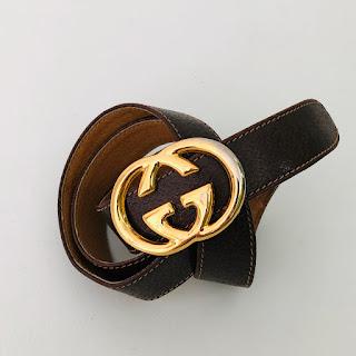 Gucci Vintage GG Buckle Belt
