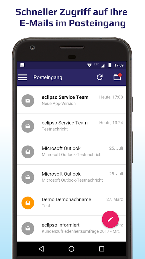 eclipso Mail & Cloud App- screenshot