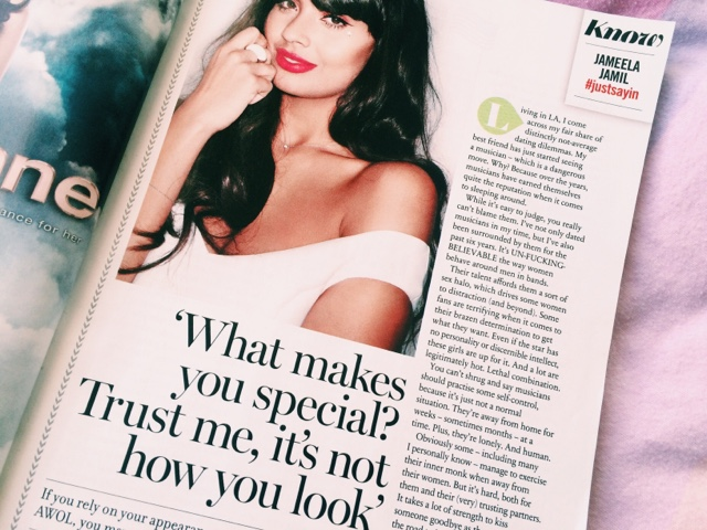 Cosmopolitan October Issue Feature #justsaying by Jameela Jamil