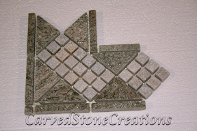 Border, Corner, Flooring, Flooring & Mosaics, Green, Interior, Listello, Mosaic, Natural, Quartzite, Stone, Tile, White
